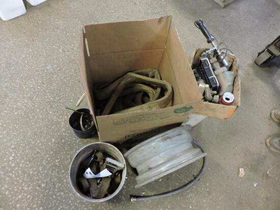 Straps, wheel, clamps and misc