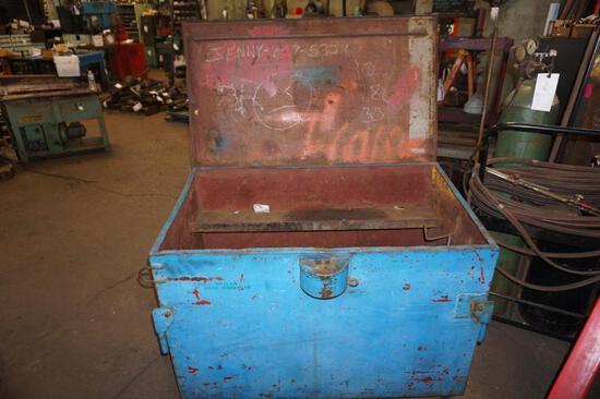 Metal Job Box on Caster Wheels