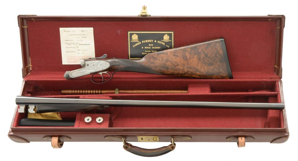 J PURDEY EXTRA FINISH SIDELOCK SXS SHOTGUN.