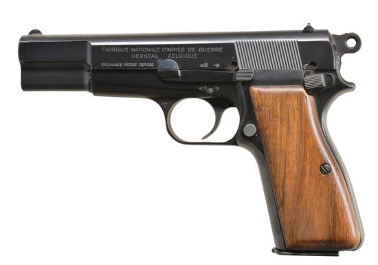 COMMERCIAL FN HI POWER SEMI AUTO PISTOL.