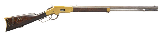 HISTORIC WINCHESTER 1866 LEVER ACTION RIFLE.