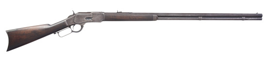 WINCHESTER EXTRA LONG 1873 LEVER ACTION RIFLE.