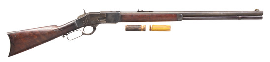 HISTORIC WINCHESTER 1873 LEVER ACTION RIFLE.
