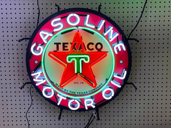 TEXACO MOTOR OIL/ GASOLINE NEON SIGN