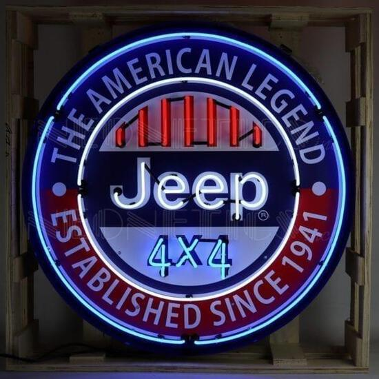 JEEP NEON CAN NEON SIGN *BIG 3FT RADIUS*
