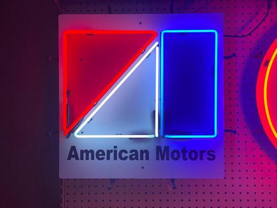 AMC AMERICAN MOTORS NEON SIGN