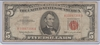 1963 U.S. $5.00 RED SEAL UNITED STATES NOTE