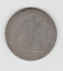 1856P SILVER SEATED LIBERTY QUARTER