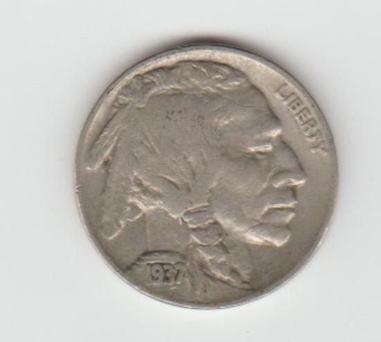 1937P BUFFALO NICKEL