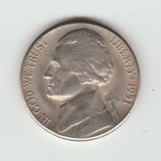 1951S JEFFERSON NICKEL