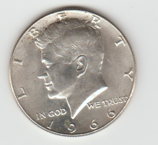 1966 SILVER KENNEDY HALF DOLLAR