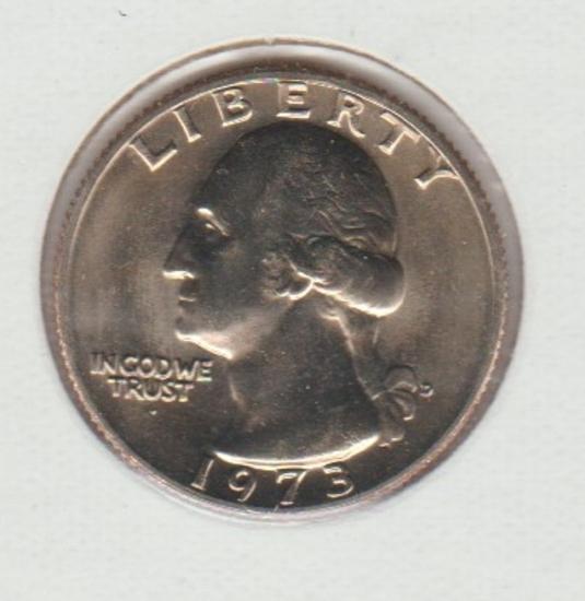 1973D UNC. WASHINGTON QUARTER