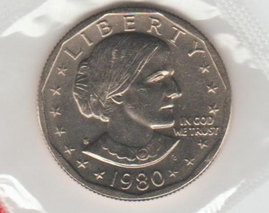 1980 S UNC.  SBA DOLLAR