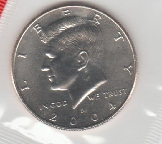 2004D UNC. KENNEDY HALF DOLLAR