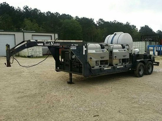 Trailer Mounted Hot Water Pressure Washer Unit With Tank