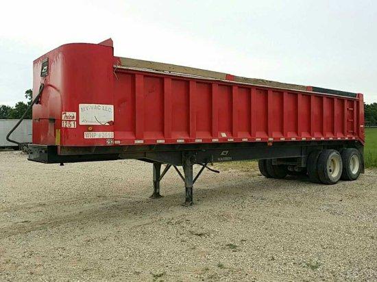 2012 Warren WRDT3232-2-SS Tandem Axle Dump Trailer