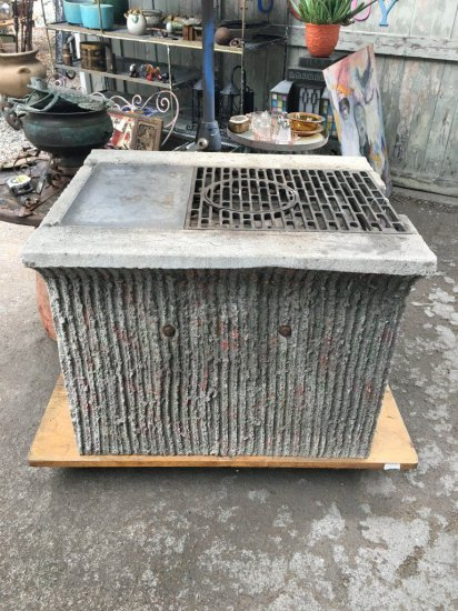 BBQ One of a kind achitechural outdoor grill cast cement