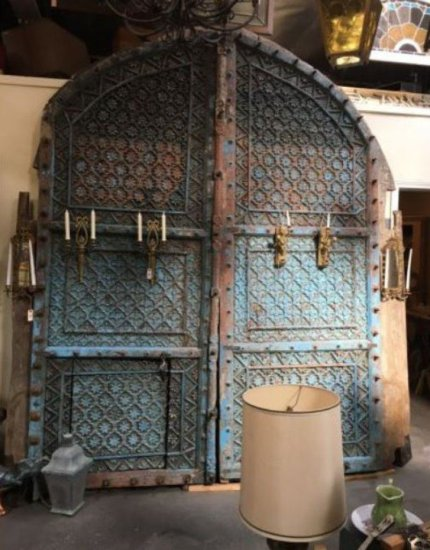 Large Blue Antique Doors from Tibet