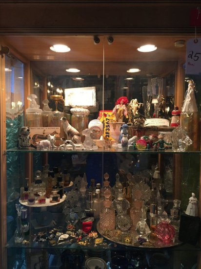 Glass Cabinet FILLED with Collectibles