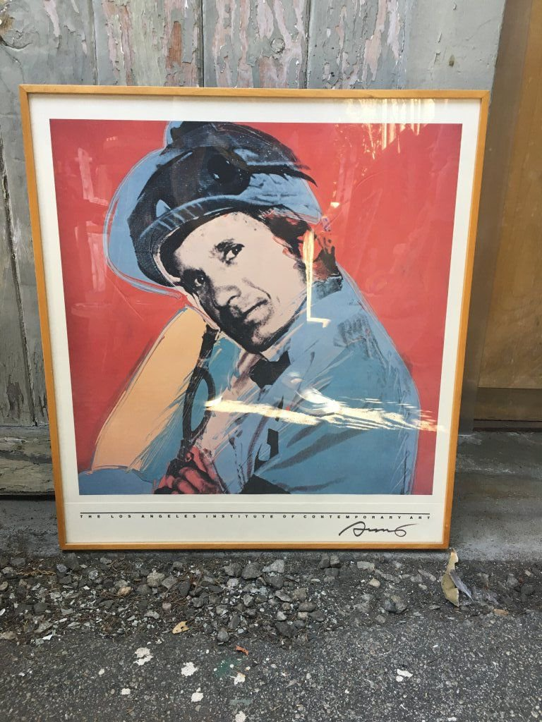 Signed Andy Warhol Poster