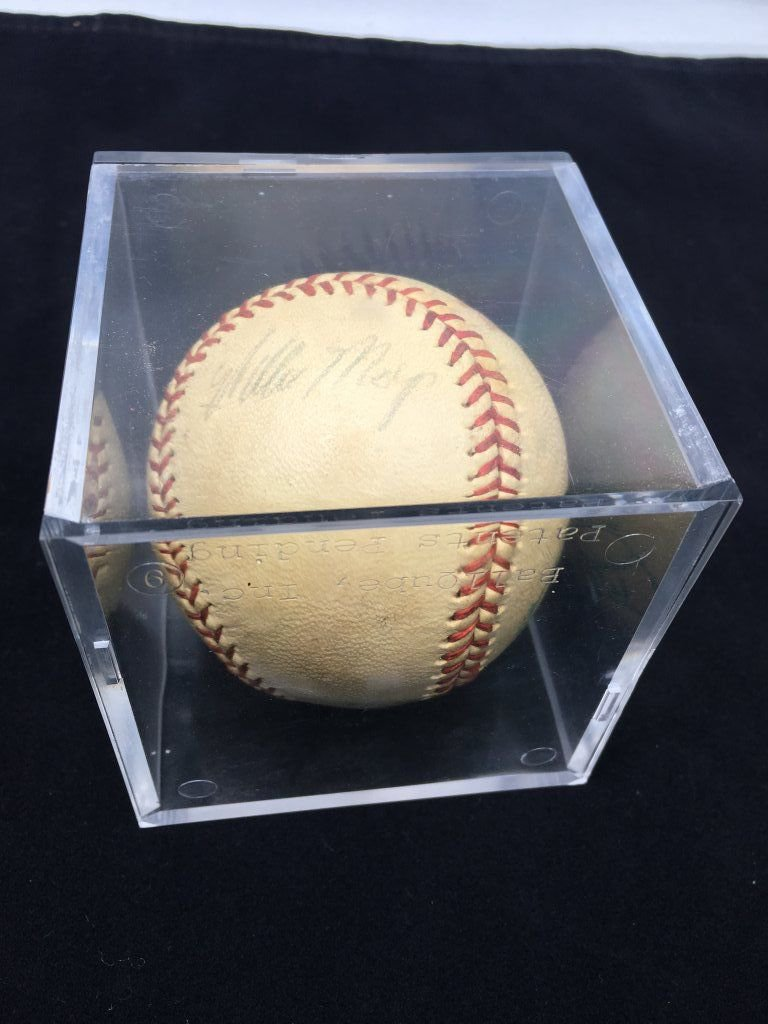 Willie Mays Signed Minor League Baseball Early 1950s w/ COA