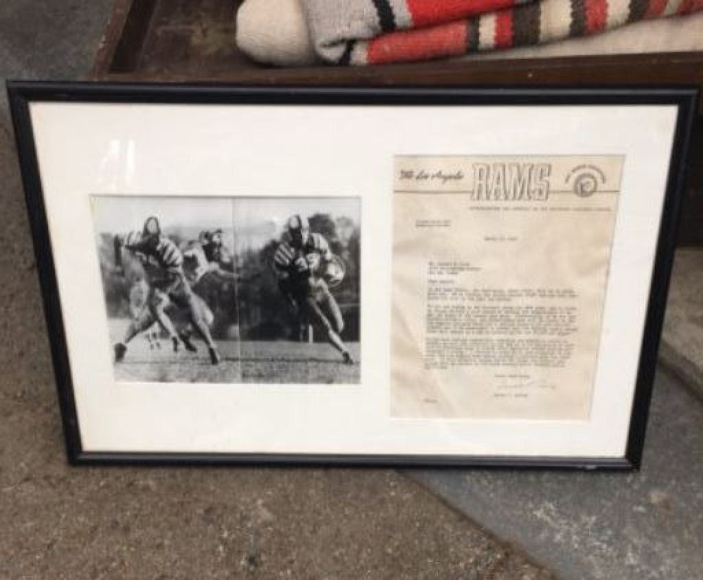Los Angeles Rams Vintage Photo & Letter