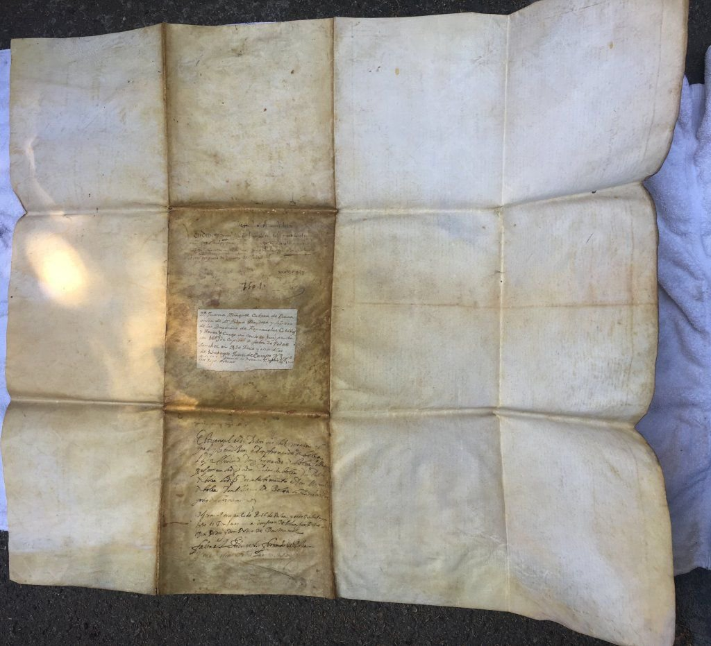 16th century Spanish document Parchment Paper