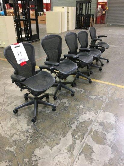 Herman Miller Aeron Chairs (5)