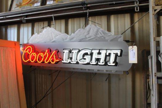 Coors Light Neon Sign
