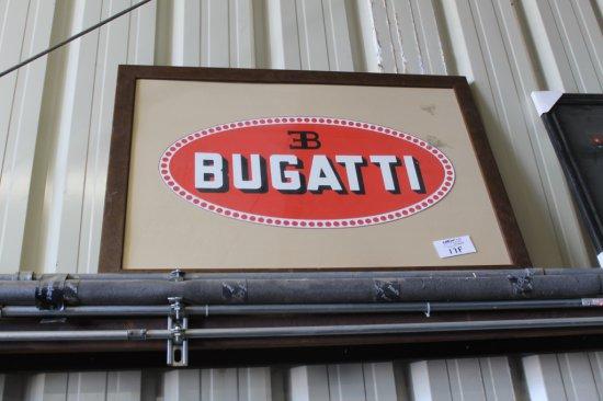 Bugatti Poster Framed