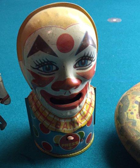 Clown Tin Toy