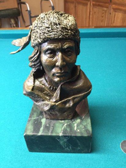 Indian Bust Bronze