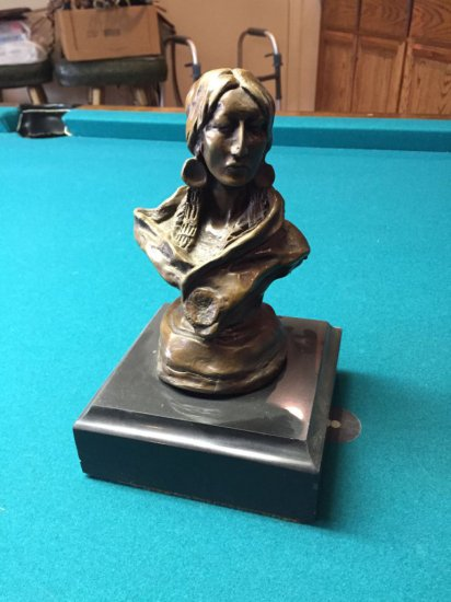 Russell Indian Woman Bust