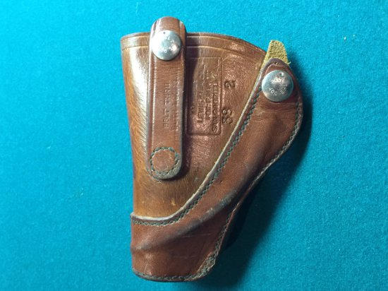 Vintage Leather Gun Belt Strap