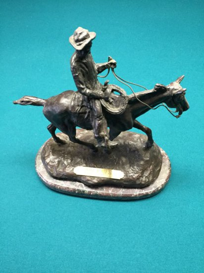 Will Rogers Bronze By Russell