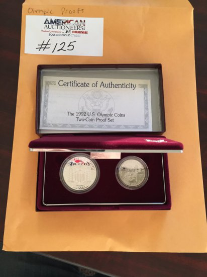 1992 US Olympic Two Coin Proof Set