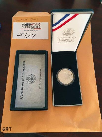United States Eisenhower Centennial Silver Dollar Coin