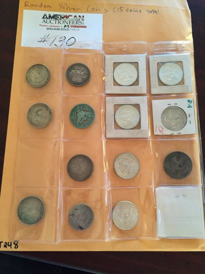 Random Assortment of US Currency  Silver Coins