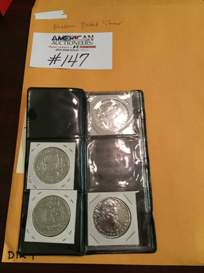 Rhodium Plated Silver Coin Collection