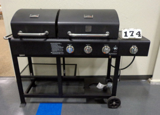 Kenmore 3 Burner Charcoal Gas Combo Grill 23671
