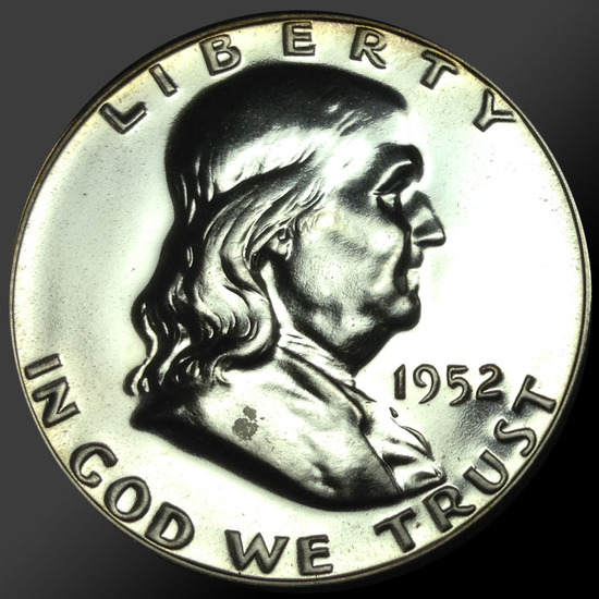 1952 Franklin Half Dollar Gem Proof Coin 90% Silver!