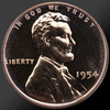 1954 Lincoln Cent Penny Gem Proof Coin!
