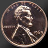 1963 Lincoln Cent Penny Gem Proof Coin!