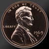 1969 Lincoln Cent Penny Gem Proof Coin!
