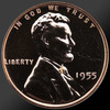 1955 Lincoln Cent Penny Gem Proof Coin!
