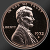 1972 Lincoln Cent Penny Gem Proof Coin!