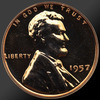 1957 Lincoln Cent Penny Gem Proof Coin!