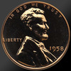 1958 Lincoln Cent Penny Gem Proof Coin!