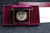 1988 US Olympics Commemorative Silver Dollar Proof Box & COA