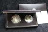 1989-s 2 pc Congressional Bicentennial Proof Commem Silver Dollar & Half Dollar Box & COA